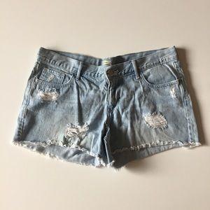 Old Navy Diva Light Wash Denim Jean Shorts Size 12